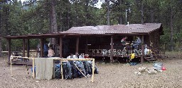 Staff Cabin at Clarks Fork